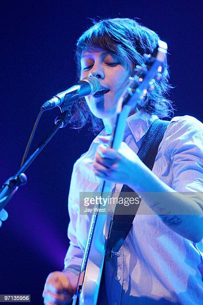 Tegan Quin of Tegan and Sara performs in concert at The Bass Concert Hall on February 26 2010 in Austin Texas