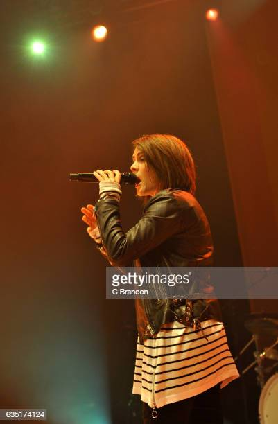 Tegan Quin of Tegan and Sara performs on stage at the Roundhouse on February 13 2017 in London United Kingdom