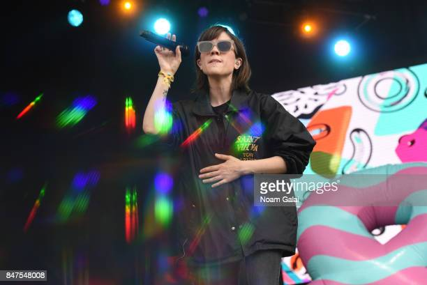 Tegan Quin of Tegan and Sara performs onstage during the Meadows Music And Arts Festival Day 1 at Citi Field on September 15 2017 in New York City