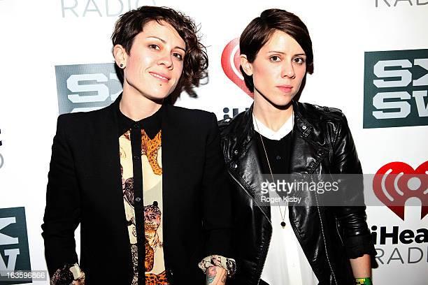 Tegan Quinn and Sara Quinn of Tegan and Sara attend the iHaertRadio Official SXSW Showcase on March 12 2013 in Austin Texas