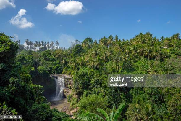 tegenungan waterfall, it is one of the many tourist places and destination in bali - shaifulzamri foto e immagini stock