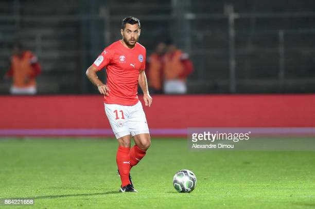 Tegi Savanier of Nimes during the Ligue 2 match between Nimes Olympique and Stade Brestois at on October 20 2017 in Nimes France