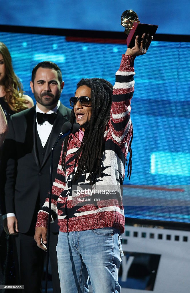 Tego Calderon accepts the Best Urban Music Album Grammy onstage during the 16th Annual Latin GRAMMY Awards held at MGM Grand Garden Arena on November 19, 2015 in Las Vegas, Nevada.