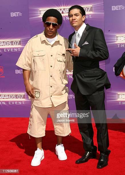 Tego Calderon and Rick Gonzalez during BET Awards 2007 Arrivals at Shrine Auditorium in Los Angeles California United States