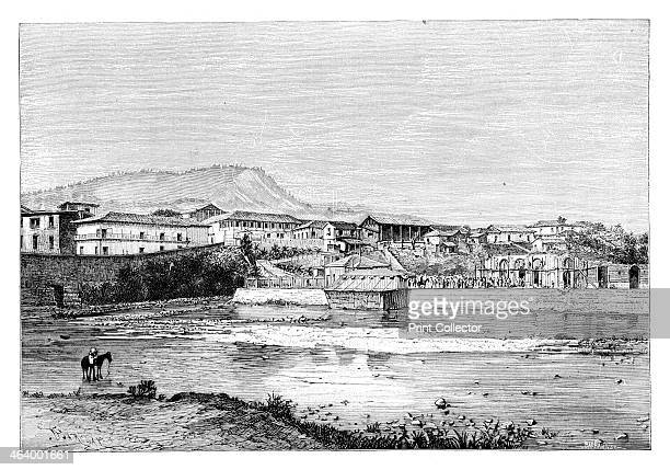 Tegucigalpa Honduras c1890 View from La Conception From Universal Geography Maps Illustrations Vol XXXIV Virtue Co Limited