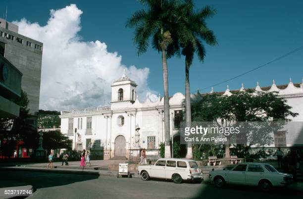 tegucigalpa plaza by white church - honduras stock pictures, royalty-free photos & images