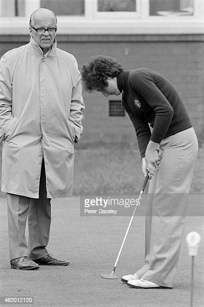 Tegwen Perkins of Wales and the GBI team during the 1976 Curtis Cup Matches played at Royal Lytham and St Annes Golf Club on August 12 1976 in Lytham...