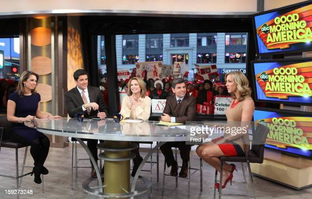 "Teh anchors host ""Good Morning America,"" 1/10/13, airing on the Walt Disney Television via Getty Images Television Network. GINGER ZEE, JOSH ELLIOTT,..."