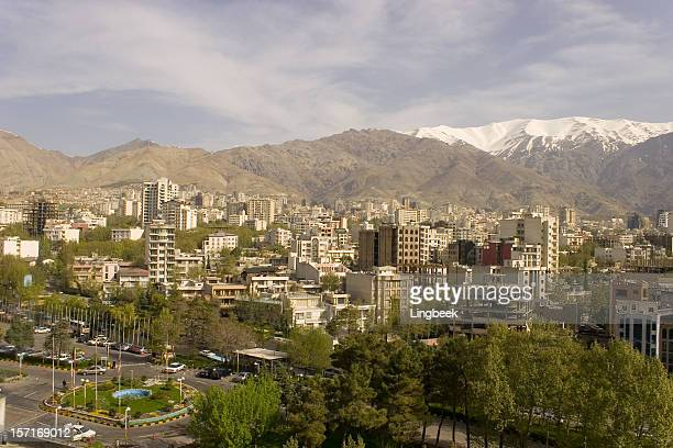 teheran city aerial - tehran stock pictures, royalty-free photos & images