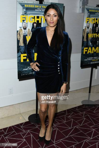 Tehmina Sunny attends Fighting With My Family Los Angeles Tastemaker Screening at The London Hotel on February 20 2019 in West Hollywood California