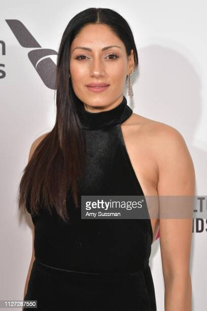 Tehmina Sunny attends the 27th annual Elton John AIDS Foundation Academy Awards Viewing Party celebrating EJAF and the 91st Academy Awards on...