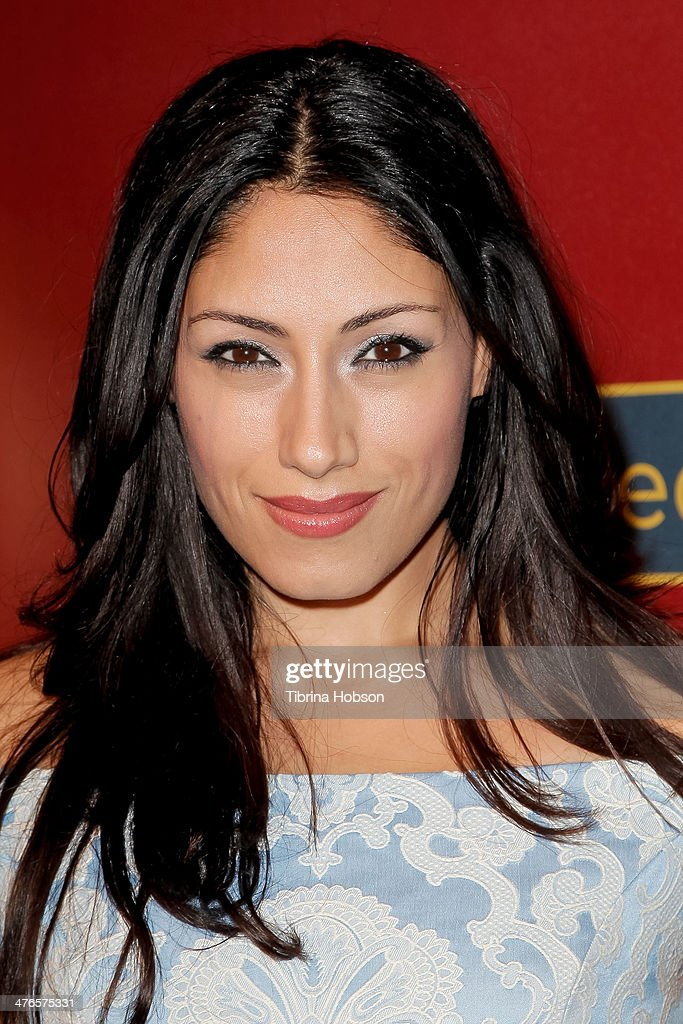 Tehmina Sunny attends the QVC 5th annual red carpet style event at The Four Seasons Hotel on February 28, 2014 in Beverly Hills, California.