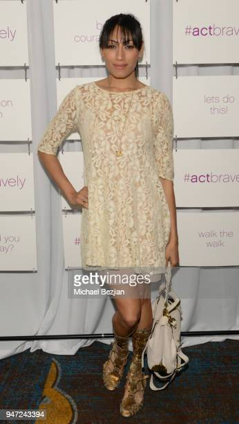 Tehmina Sunny attends Together 1 Heart charity Hosts Presentation To Announce The #ActBravely Movement at Sofitel Hotel on April 15 2018 in Los...