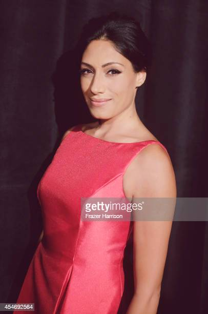 Tehmina Sunny poses for a portrait at the BAFTA luncheon on August 23 2014 in Los Angeles California