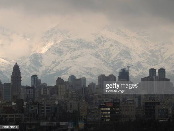 Tehran city skyline and mountains, Iran