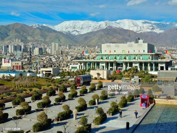 tehran city skyline, iran - vogel stock pictures, royalty-free photos & images