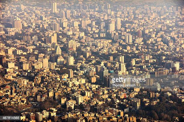 tehran city sunset - tehran stock pictures, royalty-free photos & images