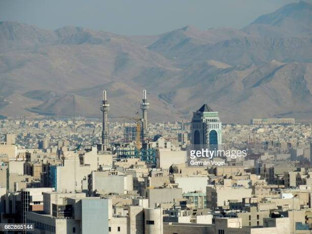 tehran clean wide city skyline - iran - tehran stock pictures, royalty-free photos & images