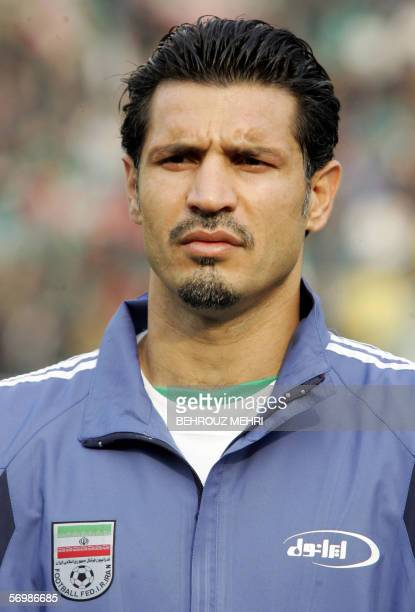 Iran's football national team forward and captain Ali Daei at Tehran's Azadi stadium 22 February 2006 AFP PHOTO/BEHROUZ MEHRI