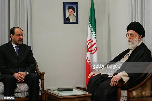Iran's supreme leader Ayatollah Ali Khamenei meets with Iraqi Prime Minister Nuri alMaliki in Tehran 13 September 2006 The United States reacted...