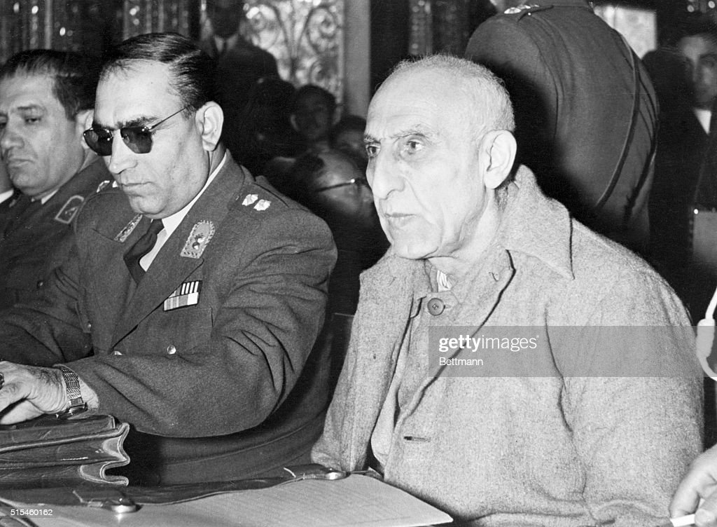 Iranian Defendant Mohammed Mossadegh During His Trial : News Photo