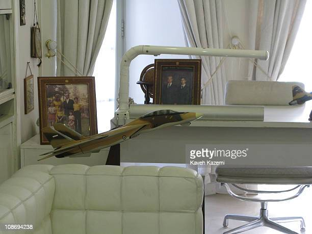 Prince Reza Pahlavi's study room in his residential building at the Niavaran Palace in Tehran 19th February 2009 The Niavaran Palace Complex is a...
