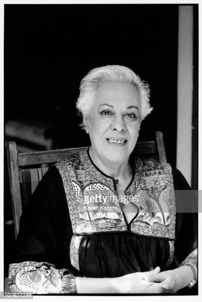 Simin Daneshvar, renowned Iranian novelist, at home in Tehran, 26th February 1990.