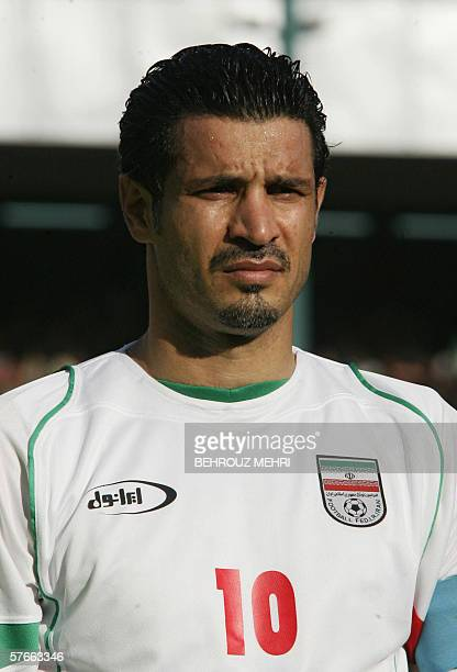TO GO WITH A STORY BY FARHAD POULADI A picture dated 01 March 2006 shows Iran's Captain Ali Daei prior to a friendly match against Costa Rica at...