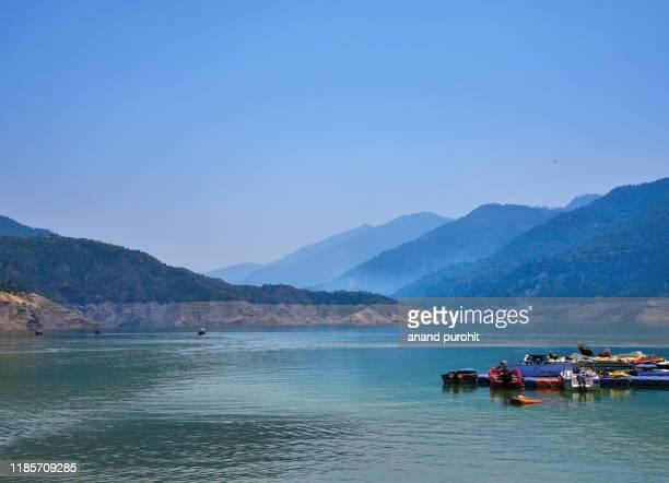 tehri dam - lake, uttarakhand, india - uttarakhand stock pictures, royalty-free photos & images