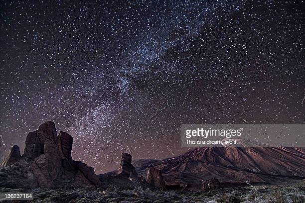 teide stars - pico de teide stock pictures, royalty-free photos & images