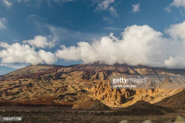 teide, the volcano - el teide national park stock pictures, royalty-free photos & images