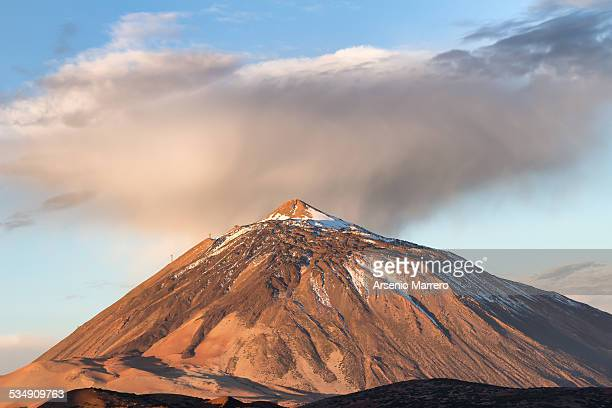 Teide volcano in cloudy winter day