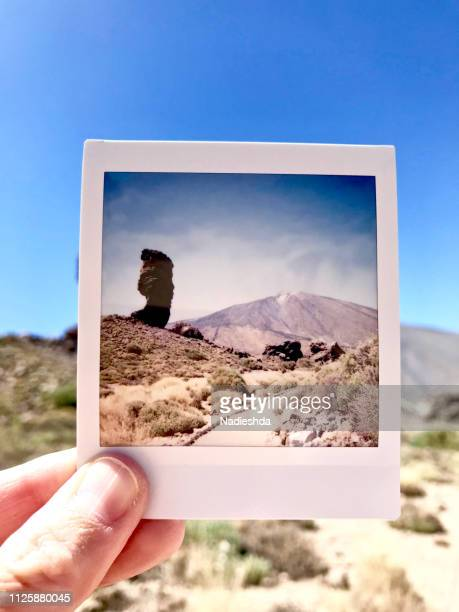 teide volcano - holding aloft stock pictures, royalty-free photos & images