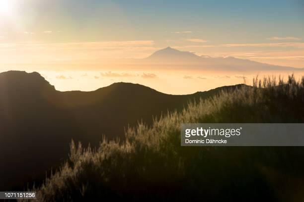 Teide´s peak seen from top of La Palma island, Canary Islands (Spain)