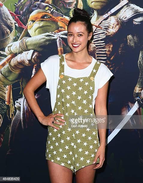 Teigan Nash arrives at the Sydney Premiere of Teenage Mutant Ninja Turtles at The Entertainment Quarter on September 7 2014 in Sydney Australia