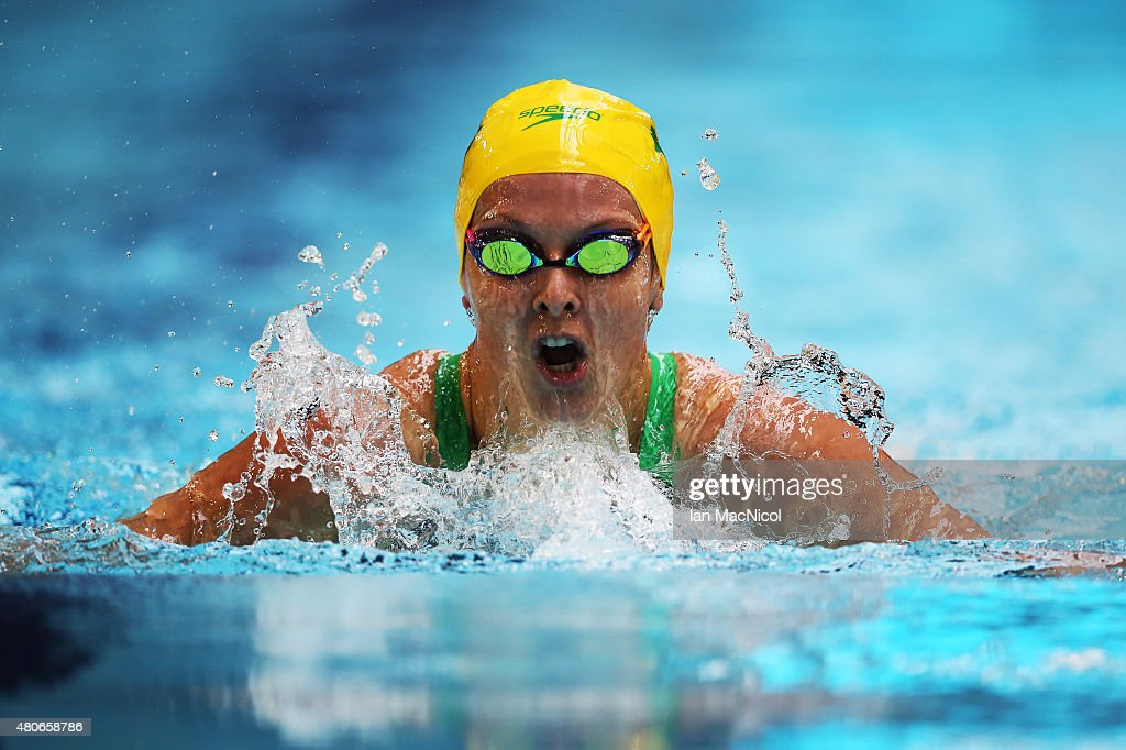 Teigan van Roosmalen of Australia competes in the heats of the Women's 200M IM SM13 during Day Two of The IPC Swimming World Championships at Tollcross Swimming Centre on July 14, 2015 in Glasgow, Scotland.