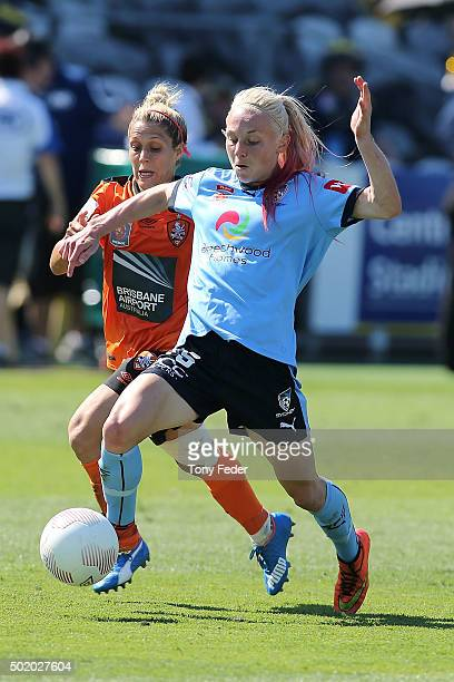 Teigen Allen of Sydney FC controls the ball during the round 10 W-League match between Sydney FC and Brisbane Roar at Central Coast Stadium on...