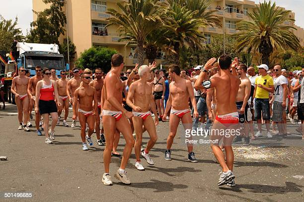 Teilnehmer der Homosexuellen- und Lesben-Parade , Maspalomas, Insel Gran Canaria, Kanaren, Spanien, Europa, Kanarische Inseln, homosexuell, lesbisch,...