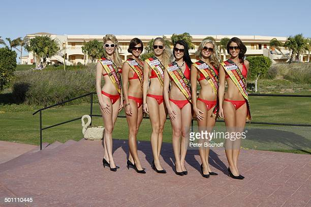 6 Teilnehmerinnen Miss GermanyWahl 2011 am 122 Miss Germany 2011Training Miss Germany Beauty Camp Club Aldiana Makadi Bay nahe Hurghada Ägypten...
