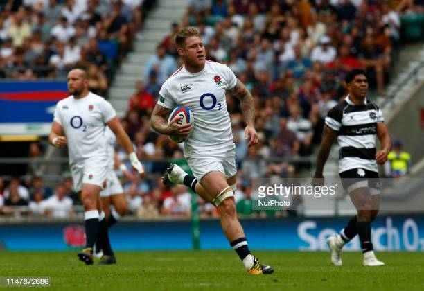Teimana Harrison of England XV during Quilter Cup between England XV and Barbarians match at Twickenham Stadium on 02 June 2019 in London England