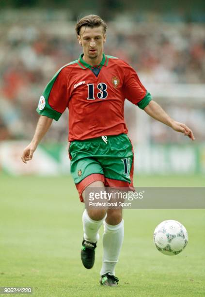 Teixeira Dimas of Portugal in action against Croatia during a UEFA Euro96 Group D match at the City Ground in Nottingham on 19th June 1996 Portugal...