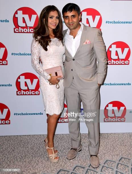 Tej Lalvani and Tara Lalvani attending the TV Choice Awards at the Dorchester Hotel Park Lane London