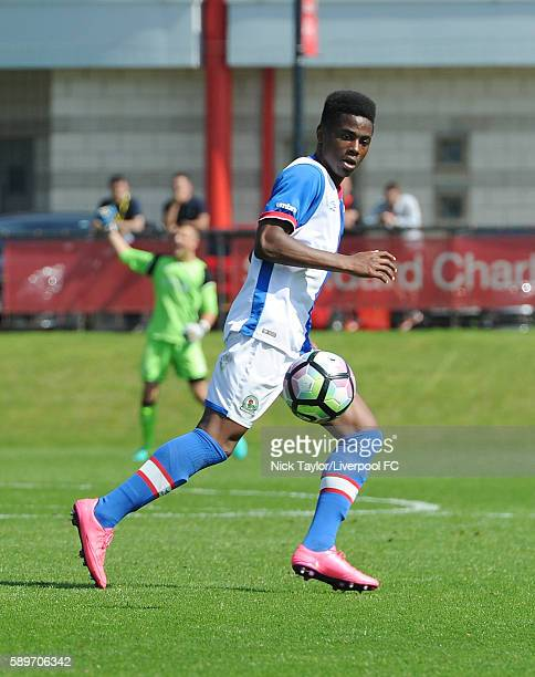 TeJay Robinson of Blackburn Rovers in action during the Liverpool v Blackburn U18 game at the Kirkby Academy on August 15 2016 in Kirkby England