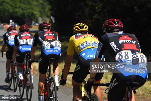 Tejay Van Garderen of The United States and BMC Racing Team / Greg Van Avermaet of Belgium and BMC Racing Team Yellow Leader Jersey / during the...
