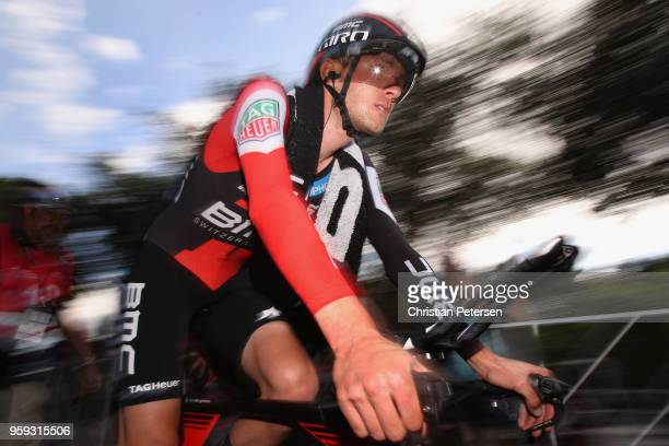 Tejay van Garderen of The United States and BMC Racing Team reacts after winning stage four of the 13th Amgen Tour of California 2018 San Jose /...