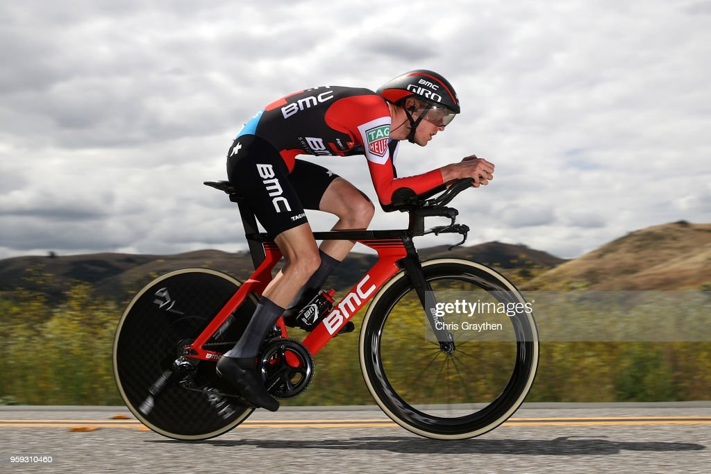 Tejay van Garderen of The United States and BMC Racing Team rides during the stage four individual time trial of the 13th Amgen Tour of California, a 34.7km stage in San Jose/Morgan Hill on May 15, 2018 in San Jose, California.