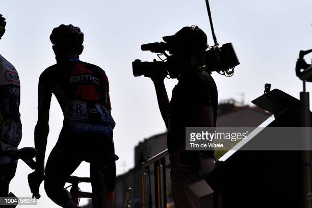 Tejay Van Garderen of The United States and BMC Racing Team / TV Media Press / Silhouet / during the 105th Tour de France 2018 Stage 16 a 218km stage...