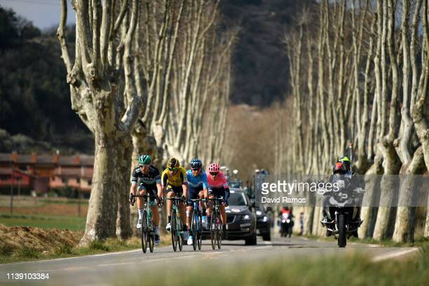 Tejay Van Garderen of The United States and Team EF Education First / Andrey Amador of Costa Rica and Movistar Team / Bertjan Lindeman of The...