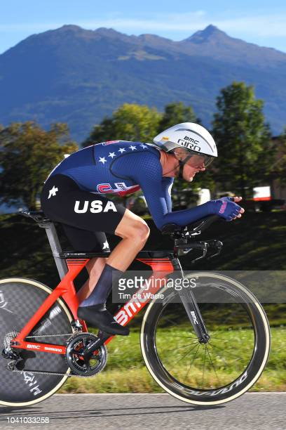 Tejay Van Garderen of The United States / during the Men Elite Individual Time Trial a 52,5km race from Rattenberg to Innsbruck 582m at the 91st UCI...