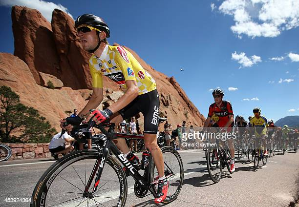 Tejay van Garderen of the United States riding for the BMC Racing Team rides through the Garden of the Gods during stage four of the 2014 USA Pro...